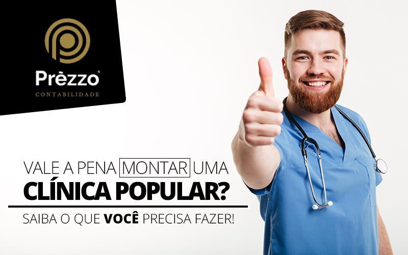 montar uma clínica popular